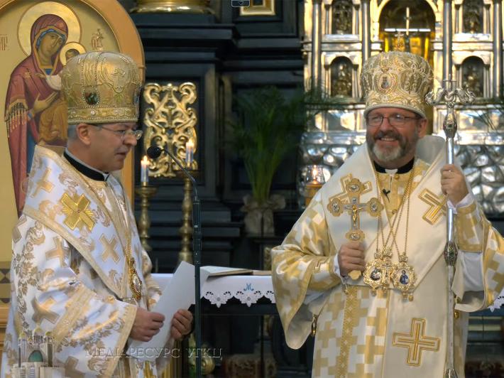 Блаженніший Святослав привітав владику Євгена Поповича з нагоди 60-річчя з дня народження та 35-ї річниці священства