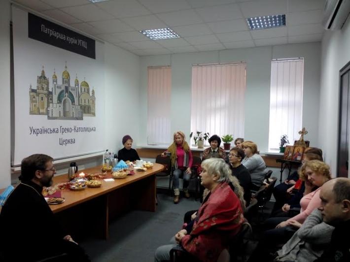 Блаженніший Святослав зустрівся із родинами героїв Небесної Сотні у Києві