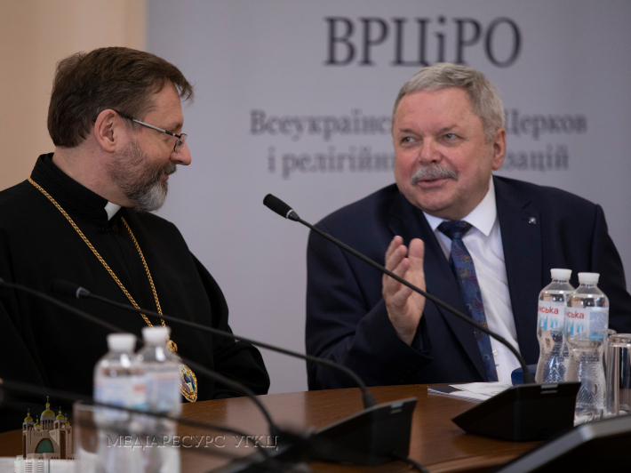 На фото - Мирослав Маринович і Блаженніший Святослав