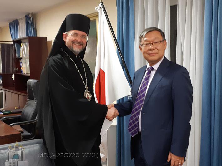 Глава УГКЦ нагородив Посла Японії в Україні Шігекі Сумі Патріаршою грамотою