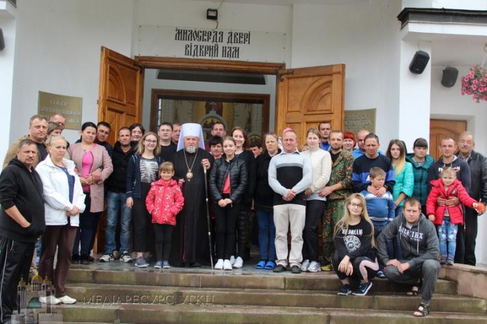 Митрополит Василь (Семенюк) зустрівся з учасниками АТО, які перебували на реабілітації в Зарваниці
