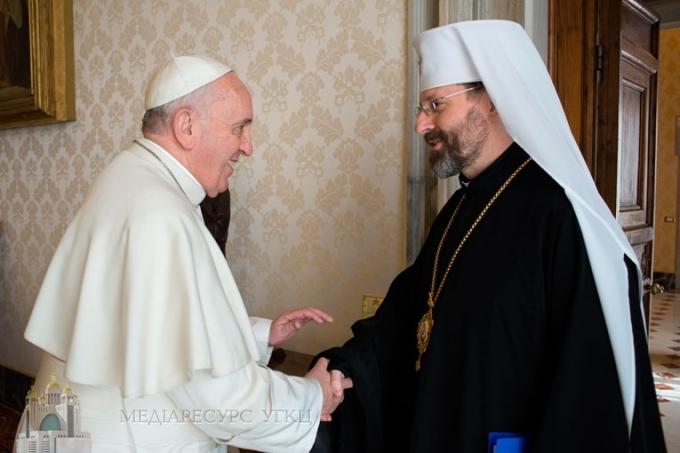 «Україна чекає на вас», ‒ Глава УГКЦ до Святішого Отця Франциска