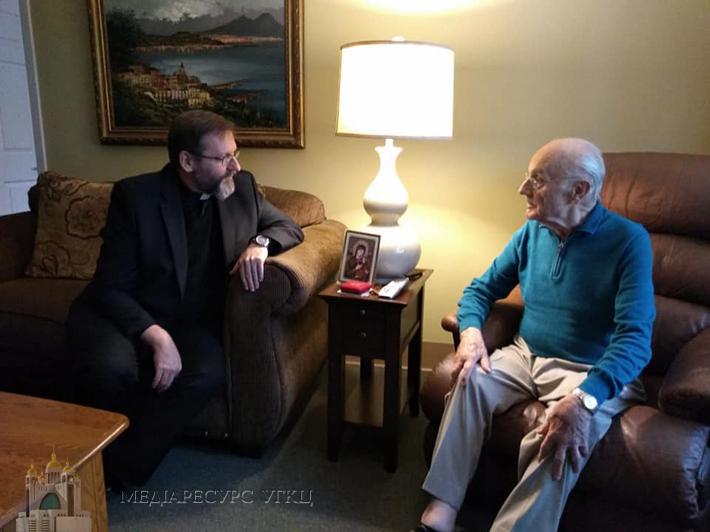 His Beatitude Sviatoslav visited Metropolitan Stefan Sulyk