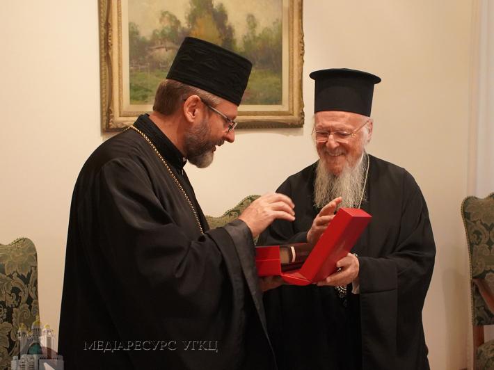 Глава УГКЦ: «На зустрічі з Патріархом Варфоломієм ми констатували, що для УГКЦ Вселенський Патріархат є Церквою-матір