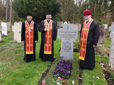 Preparations for the enthronement of Bishop Bohdan Dziurakh in Munich: bishops prayed at the grave of the first exarch