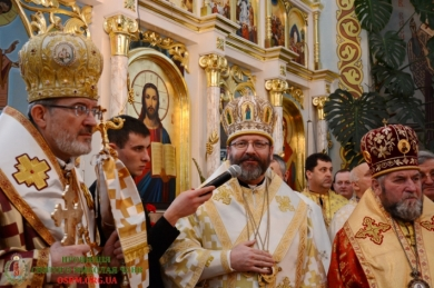 """His Beatitude Sviatoslav during the reburial of Bishop Ivan (Marhitych): """"Unity is the word of Bishop Ivan addressed to us"""""""