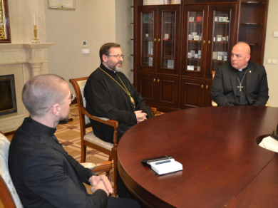 Head of UGCC met with military chaplains of U. S. Army in Europe