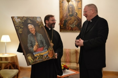 The Head of the UGCC thanked the Apostolic Nuncio for his service to the Ukrainian people and the Ukrainian Greek Catholic Church