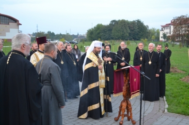 Bishops of UGCC Synod participated in the planting of trees on the Heavenly Hundred Memorial Square in Lviv