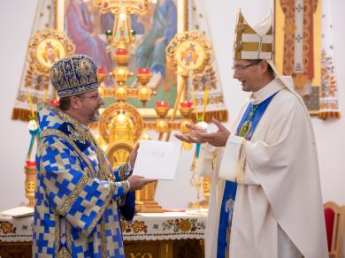 Head of the UGCC accepted a recommendation letter from archbishop Visvaldas Kulbokas, Apostolic nuncio to Ukraine