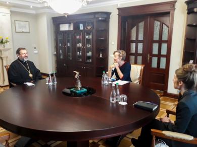 Глава УГКЦ зустрівся з послом Німеччини в Україні