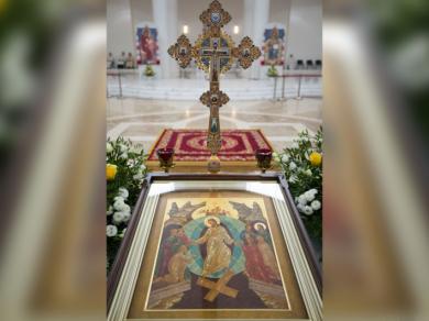 Знак глобальності УГКЦ: ікона «Зішестя до аду» з канадського Саскатуна в Патріаршому соборі в Києві