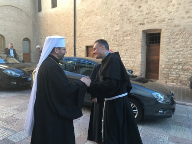 In Assisi (Italy) Head of UGCC called Franciscan monks to pray for peace in Ukraine