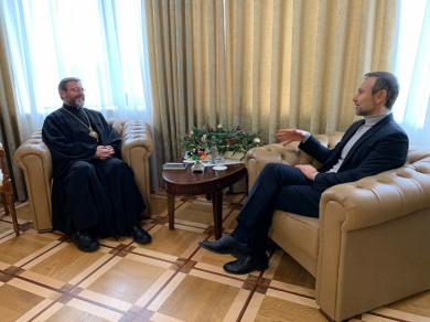 Блаженнейший Святослав поговорил со Святославом Вакарчуком о ценностях и институциях