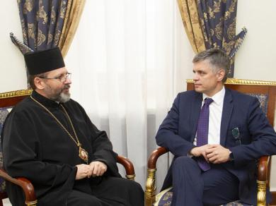 Глава УГКЦ зустрівся з міністром закордонних справ України