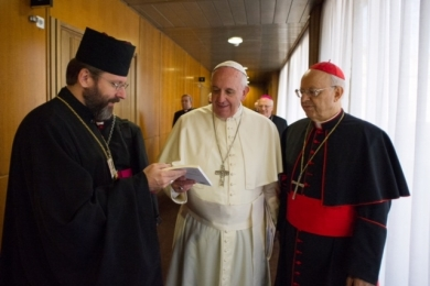 UGCC Head gave the Pope a book about children of Ukrainian immigrants