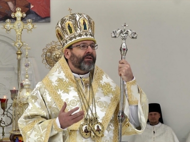 The Head of the UGCC:  Today we see Christ, who shows Himself above new Ukraine, taking over our tears and sufferings.