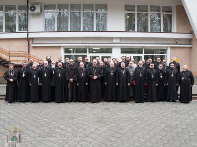 На фото - зустріч греко-католицьких і римо-католицьких єпископів України у Брюховичах, 2019