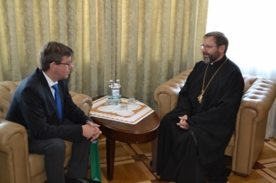 His Beatitude Sviatoslav met with the Ambassador of Lithuania in Ukraine and spoke about  connection between the history of the UGCC and the Lithuanian Republic