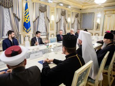 Главы Церквей во время встречи с Президентом призвали доработать законопроект № 0931