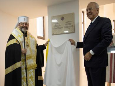 Блаженніший Святослав разом із Карлом Андерсоном у Києві відкрили пам'ятну дошку о. Майклу Маꥳвні, засновнику «Лицарів Колумба»