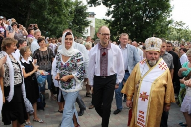 In Zarvanytsya the Head of the UGCC and the Prime Minister of Ukraine prayed for peace in Ukraine