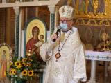 Владика Діонісій Ляхович під час святкування 30-річчя відновлення Незалежності України в базиліці Святої Софії в Римі